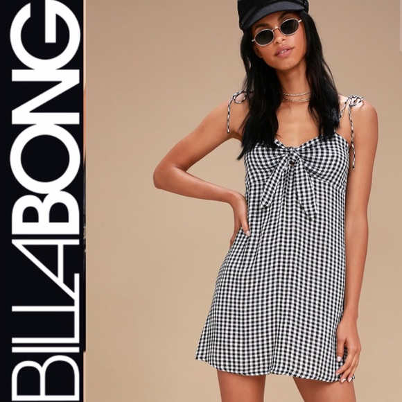 9d512073d5f Billabong Black   White Gingham Dress